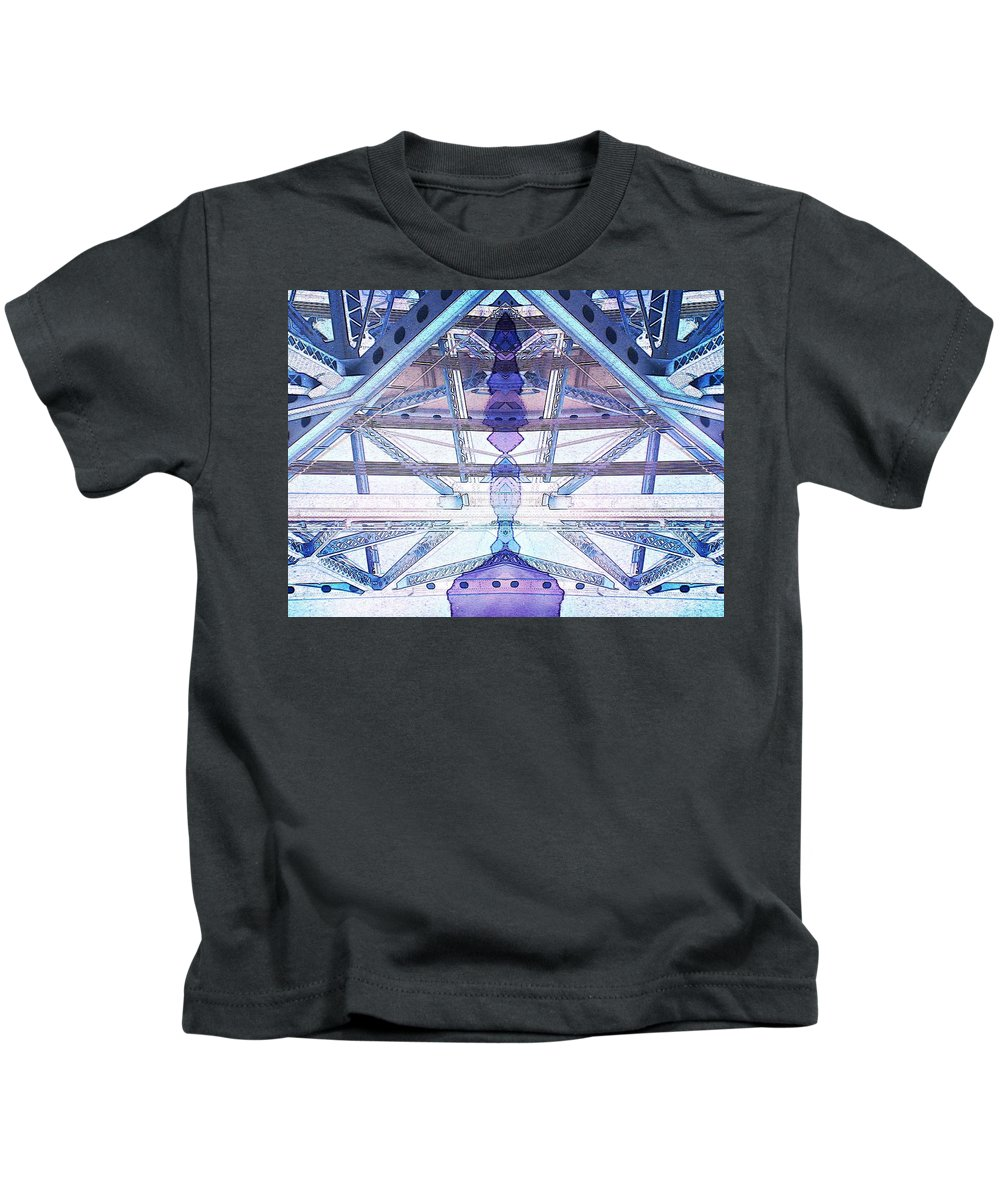 Abstract Kids T-Shirt featuring the photograph Riven by Candee Lucas