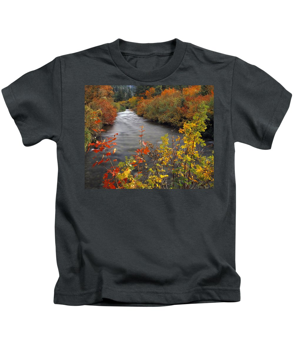 Palisades Creek Kids T-Shirt featuring the photograph River Color by Leland D Howard