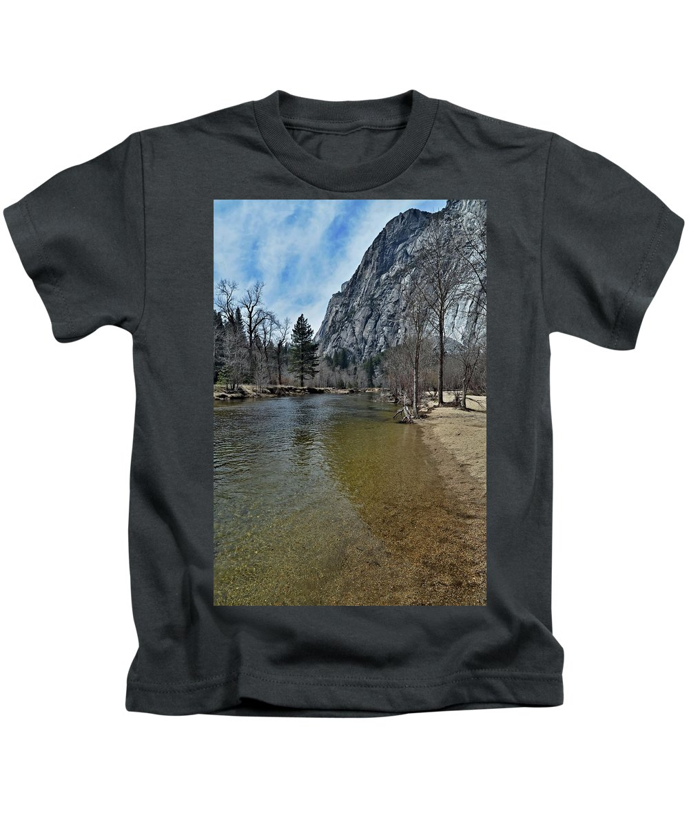 Riverside-vertical Kids T-Shirt featuring the photograph Riverside- Vertical by See My Photos