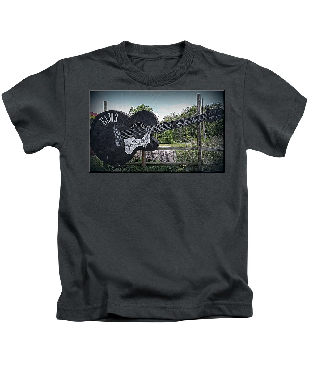 Elvis Kids T-Shirt featuring the photograph Roadside Tribute To Elvis by Dora Sofia Caputo Photographic Design and Fine Art