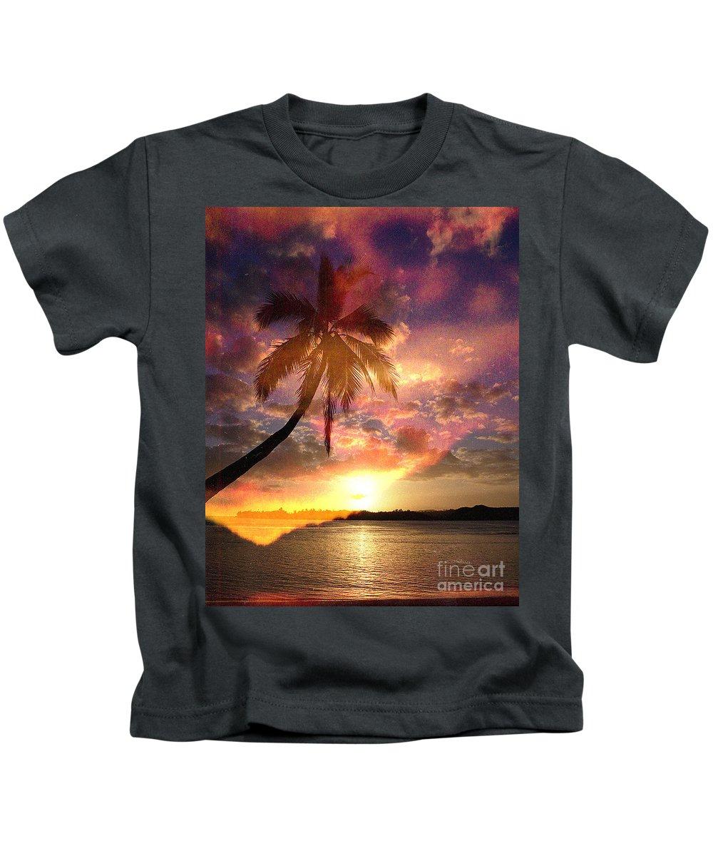 Landscape Kids T-Shirt featuring the digital art Romance by Yael VanGruber
