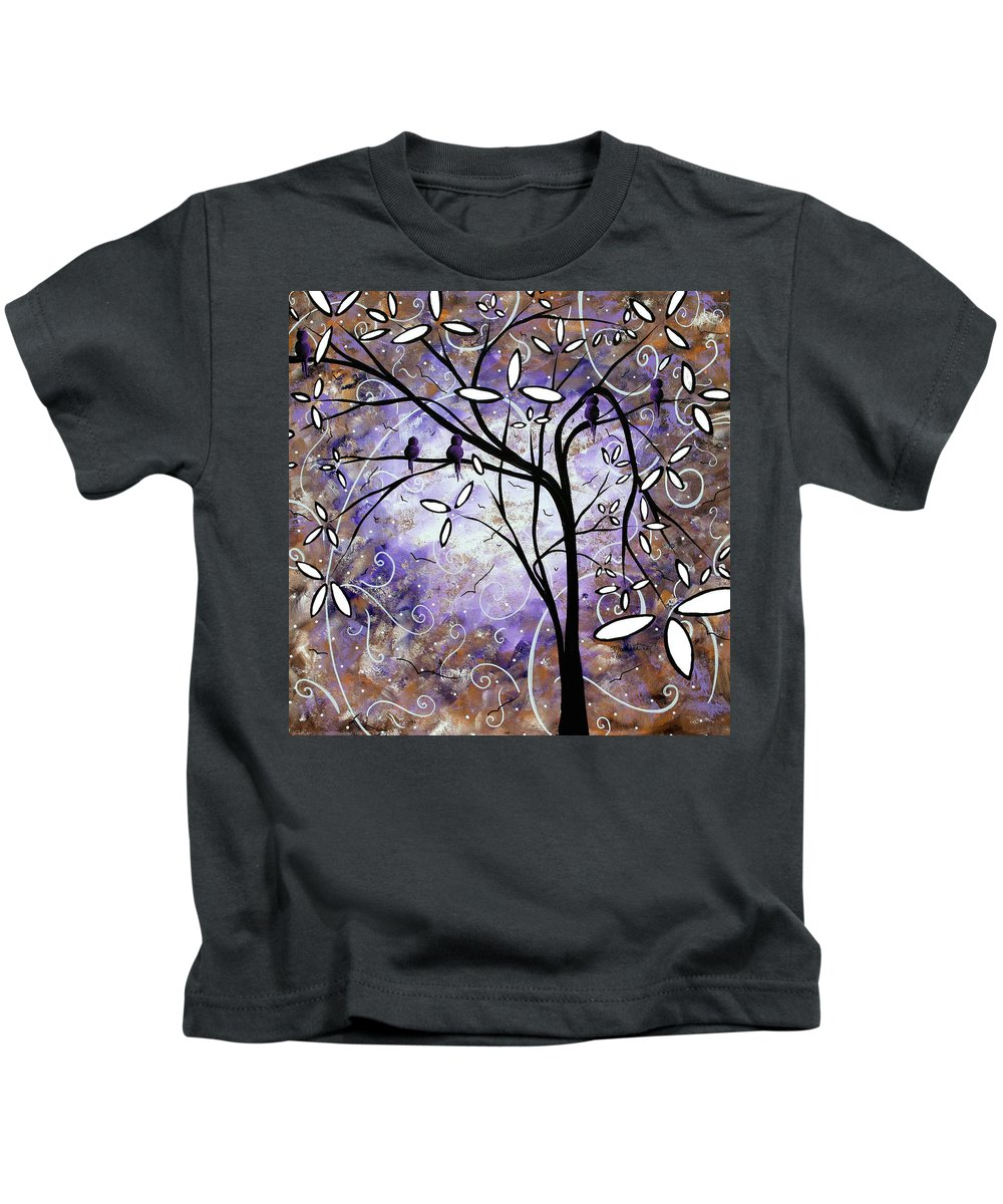 Wall Kids T-Shirt featuring the painting Royalty By Madart by Megan Duncanson