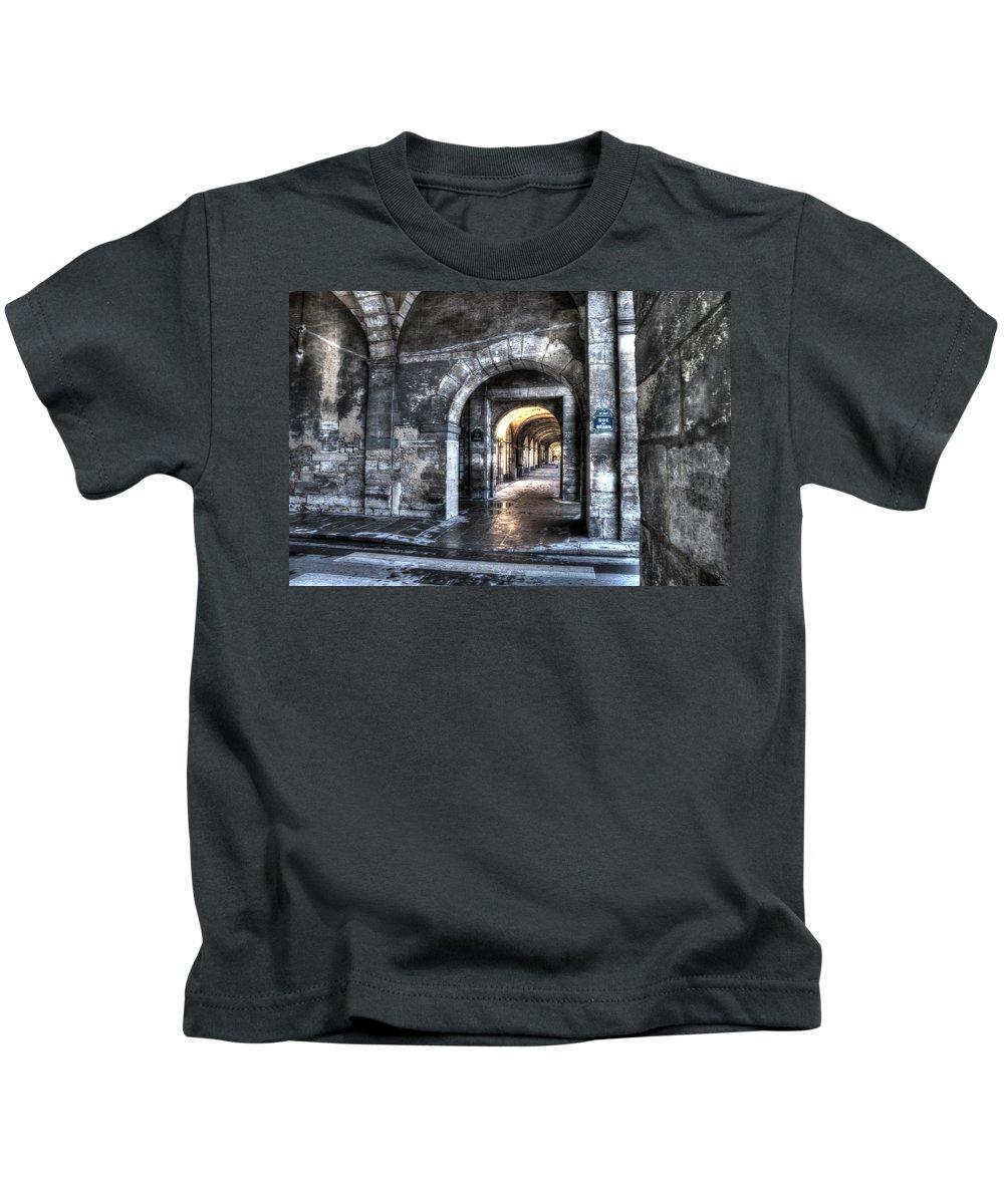 Arch Kids T-Shirt featuring the photograph Rue De Bearn by Evie Carrier