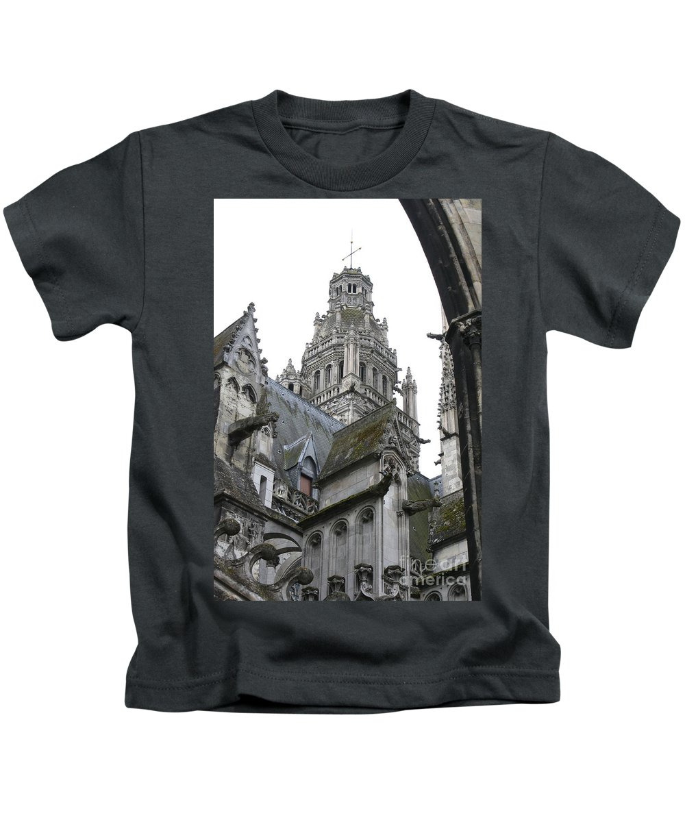 Cathedral Kids T-Shirt featuring the photograph Saint Gatien's Cathedral Steeple by Christiane Schulze Art And Photography