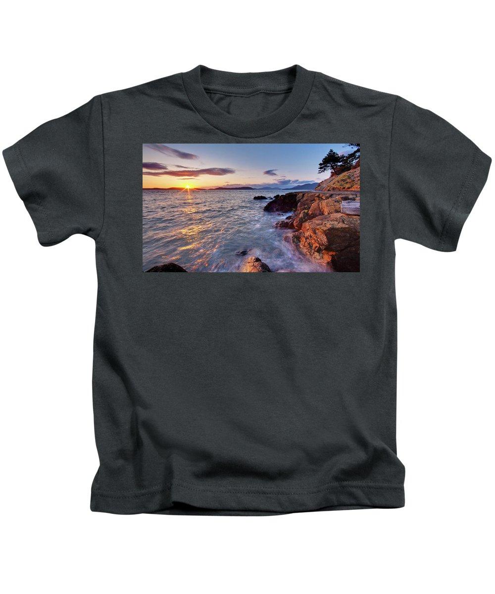 San Juan Islands Kids T-Shirt featuring the photograph San Juans Serenity by Mike Reid