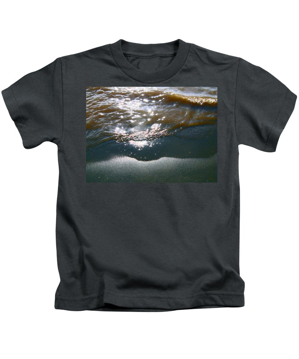 Abstract Kids T-Shirt featuring the photograph Sand And Water by Lenore Senior
