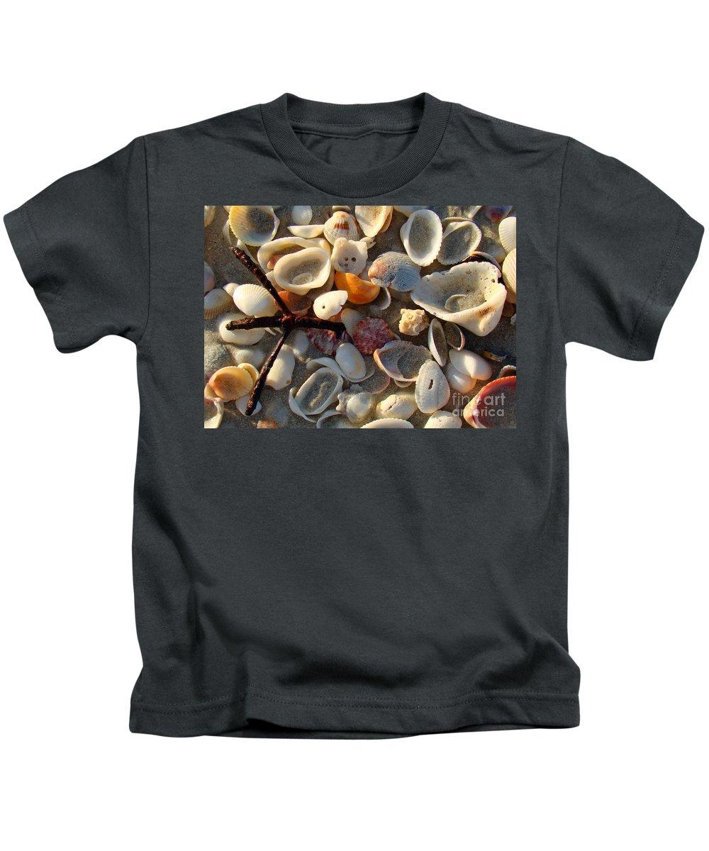 Shells Kids T-Shirt featuring the photograph Sanibel Island Shells 6 by Nancy L Marshall