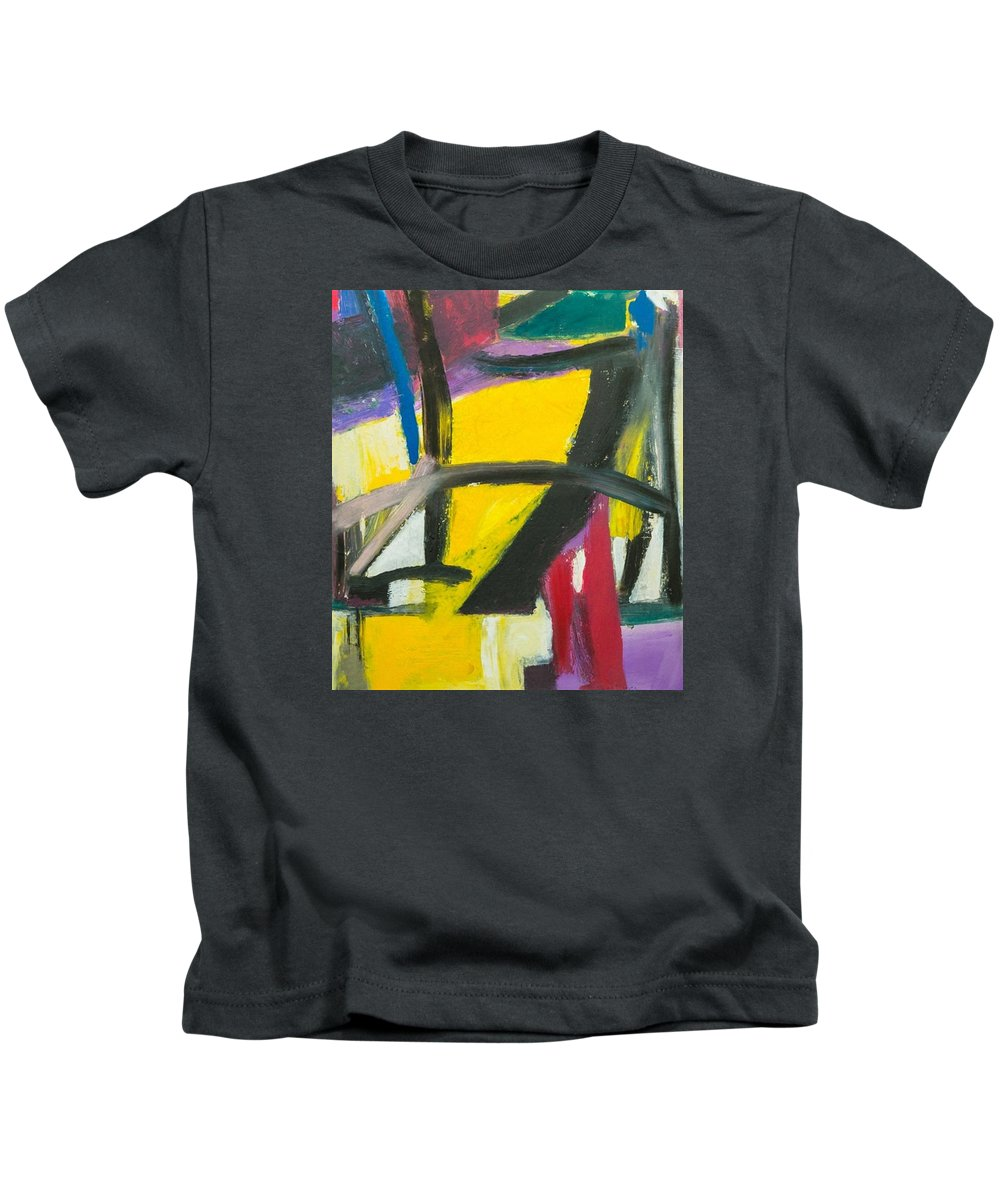 Abstract Art; Abstract Design; Kids T-Shirt featuring the painting Scarface by Suresh Pitamber