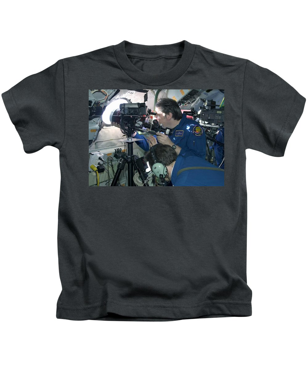 Astronomy Kids T-Shirt featuring the photograph Scientists Onboard Stratotanker by Science Source