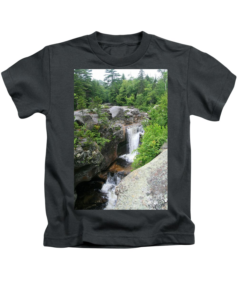 Screw Auger Falls Kids T-Shirt featuring the photograph Screw Auger Falls by Neal Eslinger