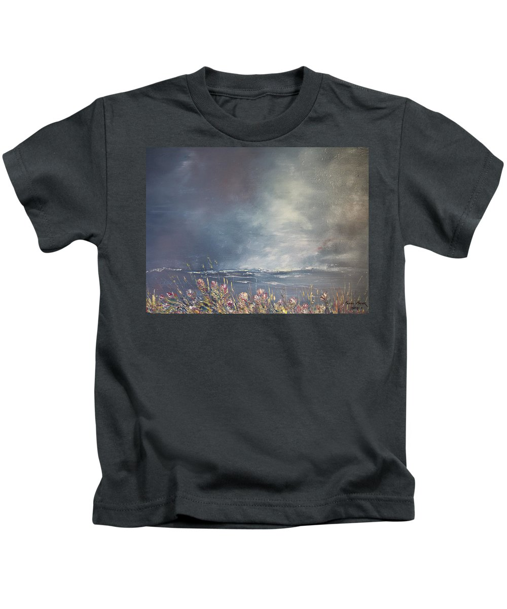 2014 Kids T-Shirt featuring the painting Sea Breeze Fynbos by Melanie Meyer