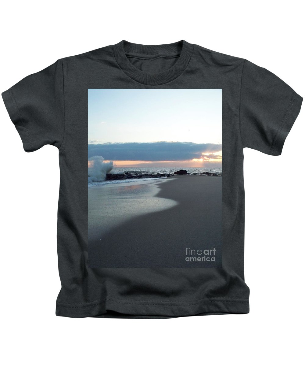 Seascapes Kids T-Shirt featuring the photograph Seascape by Eric Schiabor