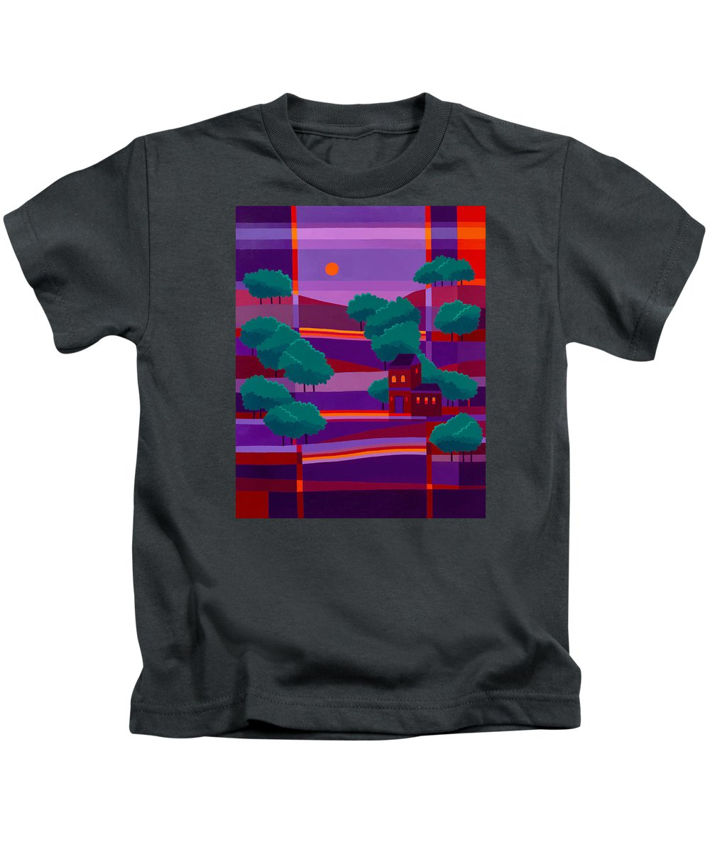 Secluded Villa Kids T-Shirt featuring the painting Secluded Villa by Michael Jernegan