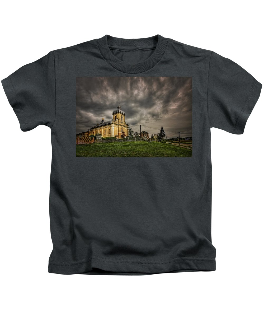Church Kids T-Shirt featuring the photograph Send Me An Angel by Evelina Kremsdorf