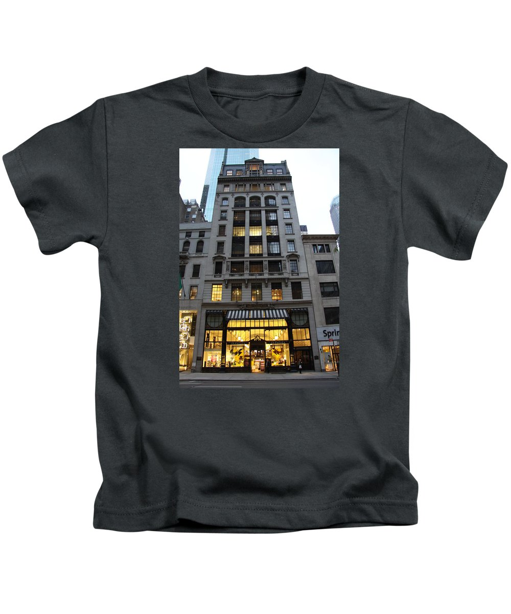 House Kids T-Shirt featuring the photograph Sephora House - 5th Ave Nyc by Christiane Schulze Art And Photography