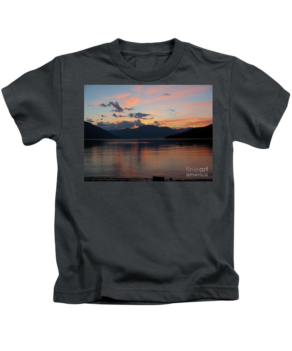 Kootenay Kids T-Shirt featuring the photograph September Sunset by Leone Lund
