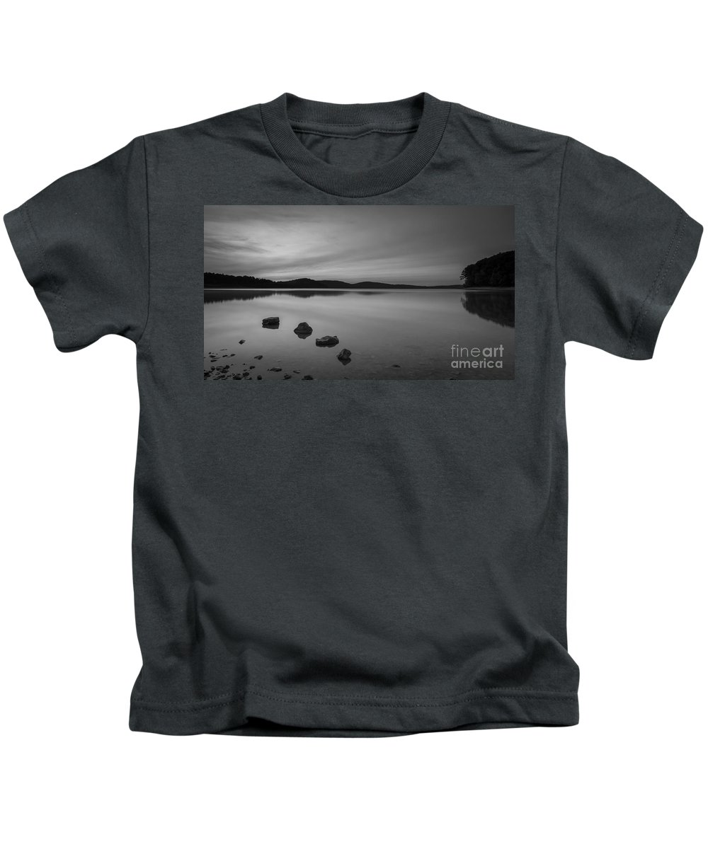 Michael Ver Sprill Kids T-Shirt featuring the photograph Sereneness Bw by Michael Ver Sprill