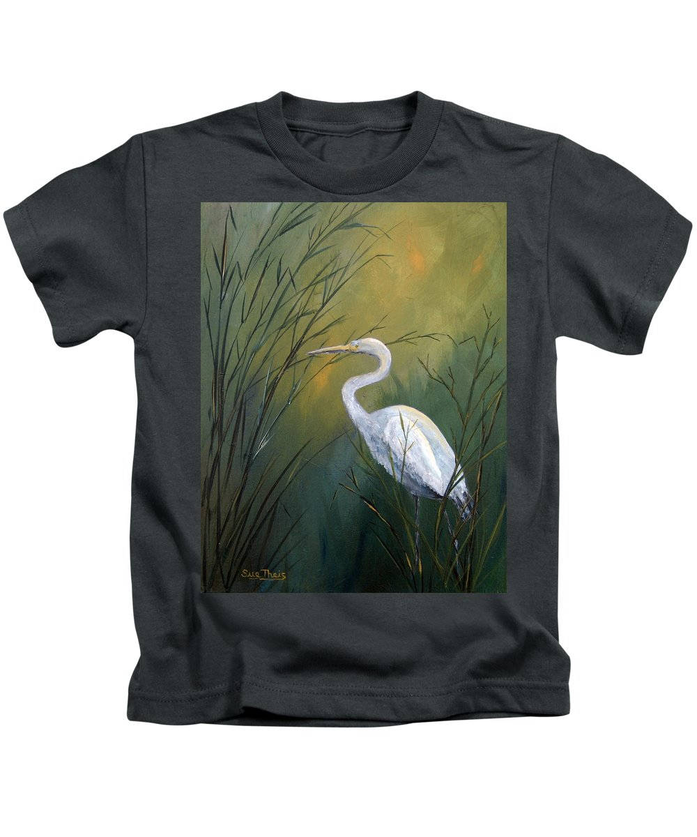 Louisiana Art Kids T-Shirt featuring the painting Serenity by Suzanne Theis
