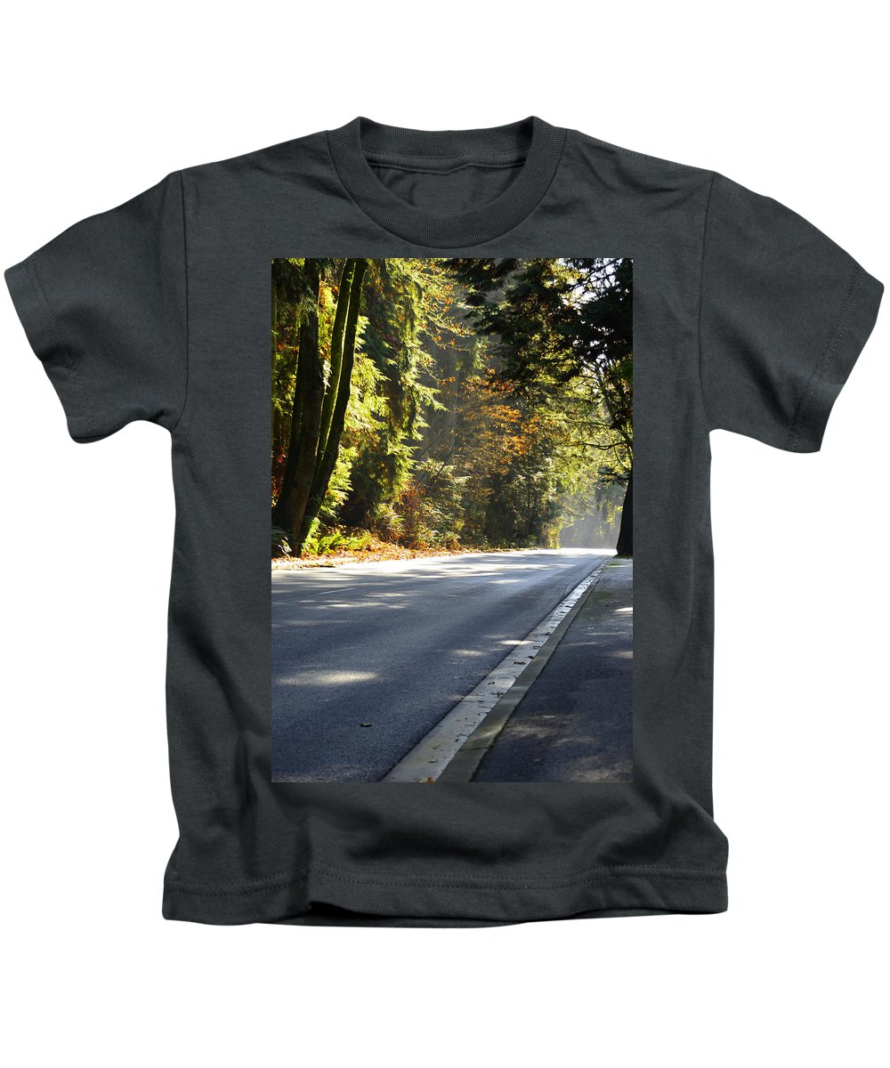 Vancouver Kids T-Shirt featuring the photograph Shine I Followed by The Artist Project