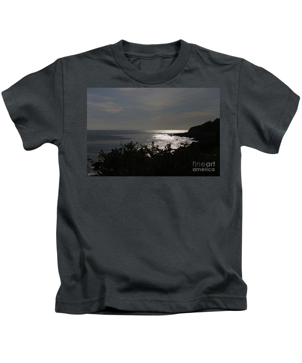 Palos Verdes Kids T-Shirt featuring the photograph Shining Sea by Bev Conover