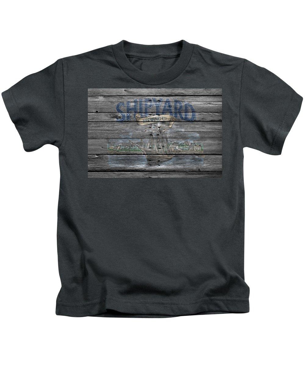 Shipyard Brewing Kids T-Shirt featuring the photograph Shipyard Brewing by Joe Hamilton