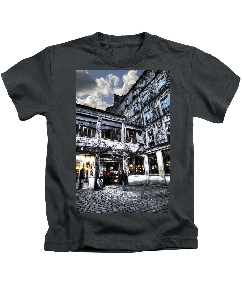 Blue Kids T-Shirt featuring the photograph Silence Of Marais by Evie Carrier