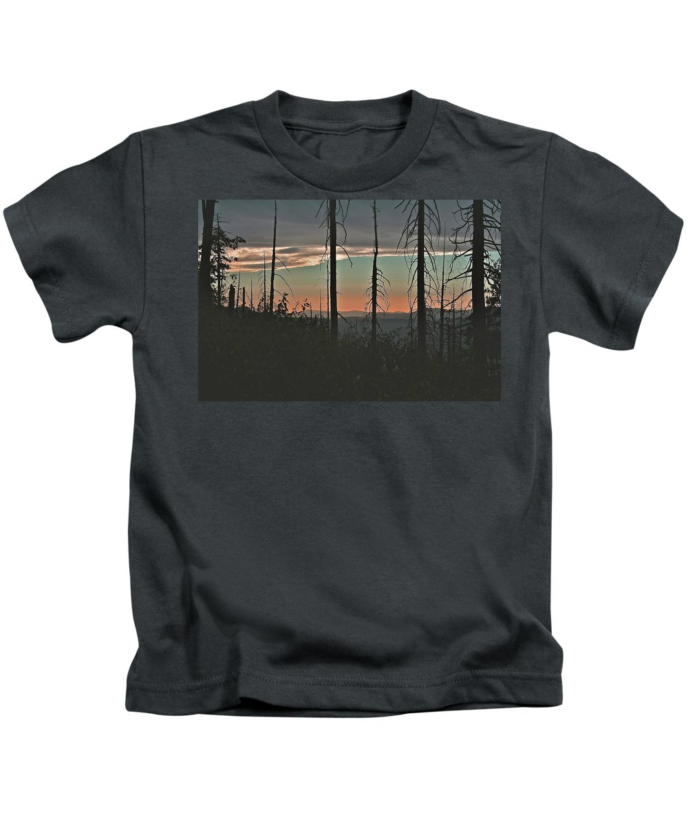 Silhouette Kids T-Shirt featuring the photograph Silhouette @ Yosemite by SC Heffner