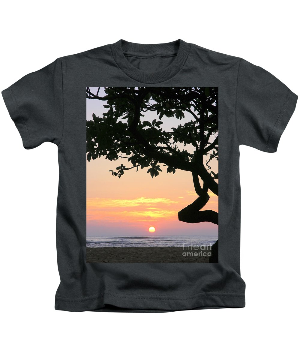 Sunrise Kids T-Shirt featuring the photograph Silhouette Sunrise by Mary Deal