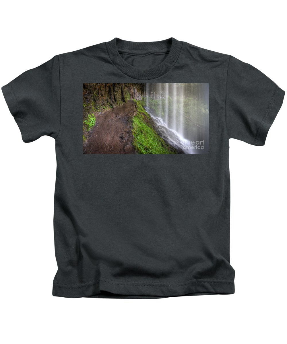 Silver Falls State Park Kids T-Shirt featuring the photograph Silver Falls State Park by Matt Hoffmann