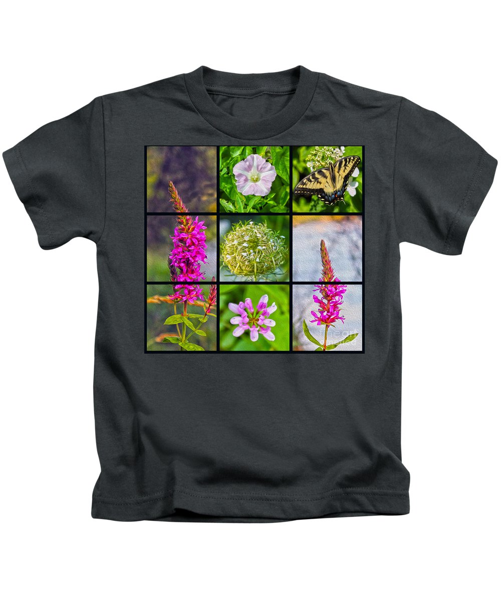 Nature Kids T-Shirt featuring the photograph Simply Summer Wildflowers by Nina Silver