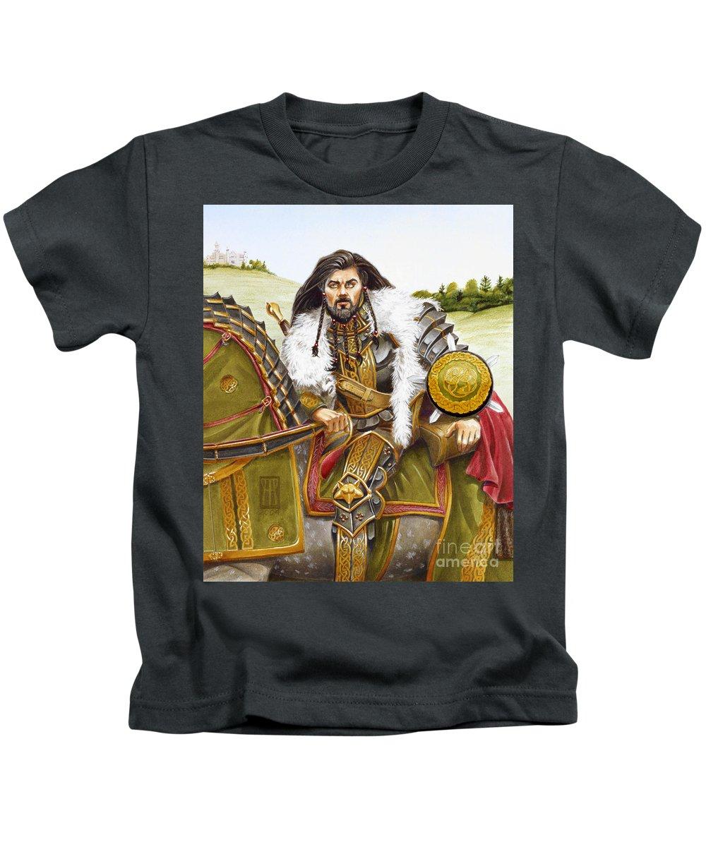 Fine Art Kids T-Shirt featuring the painting Sir Marhaus by Melissa A Benson