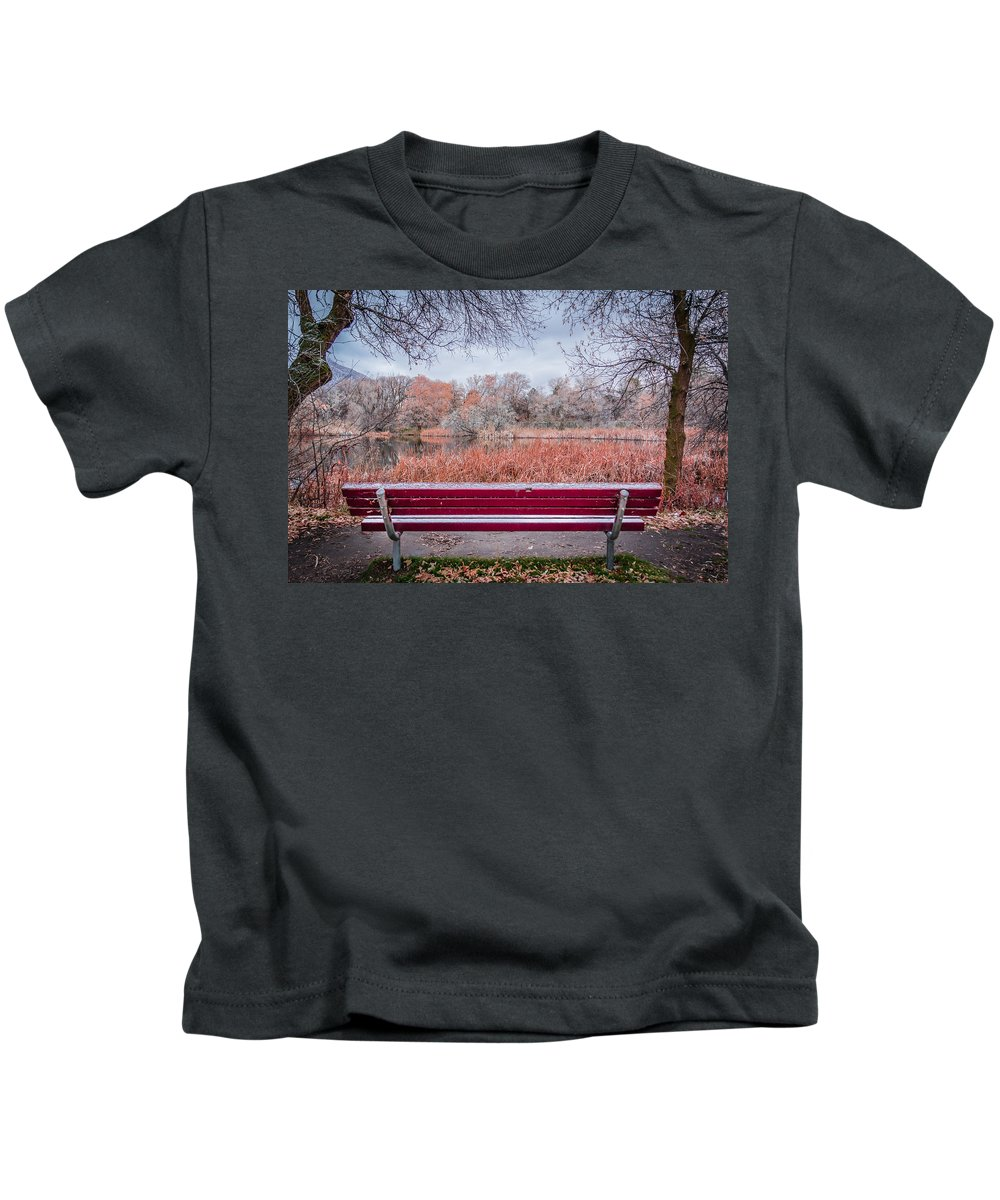 Gigimarie Kids T-Shirt featuring the photograph Sit With Me by Gina Herbert