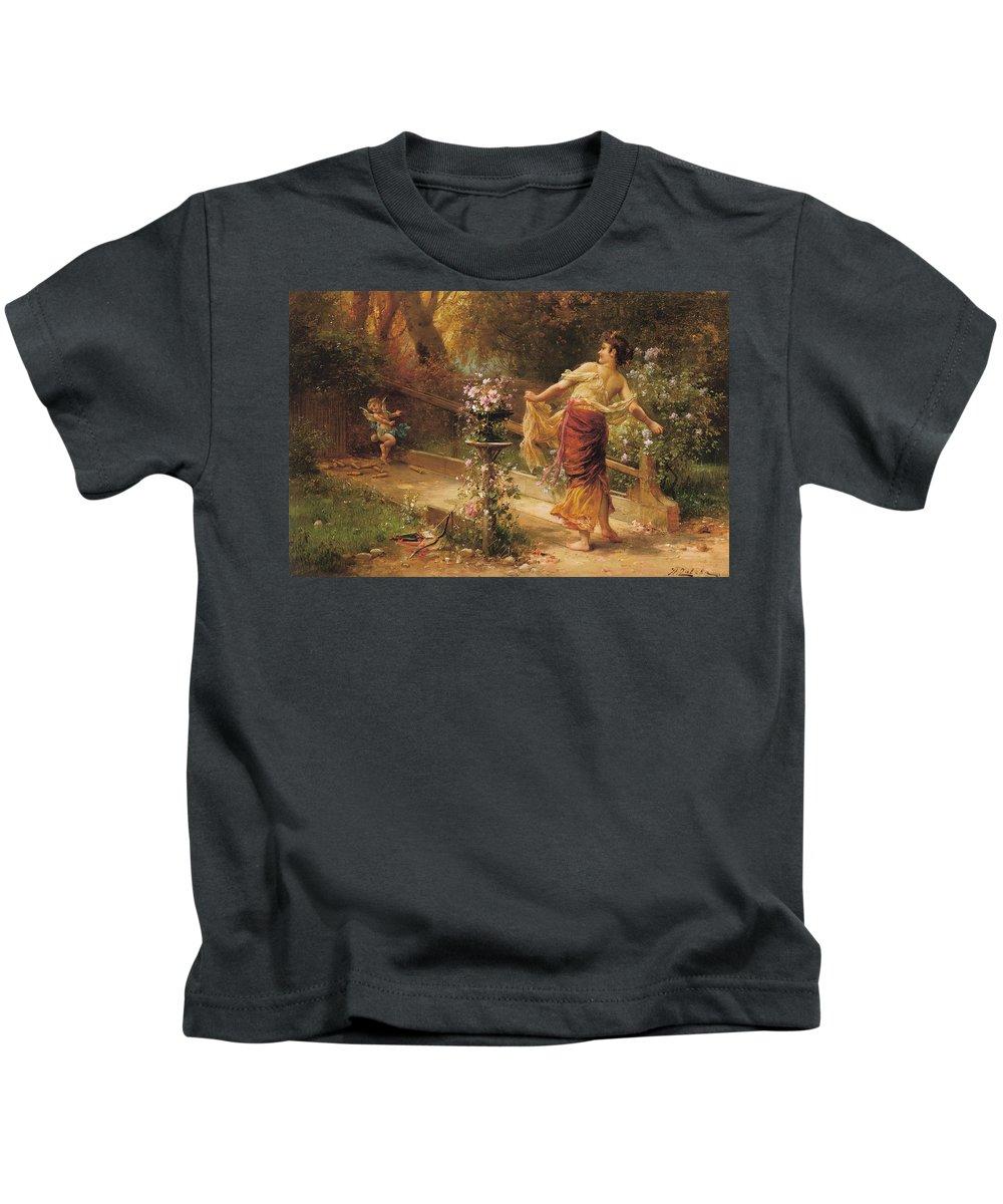 Hanz Zatzka Kids T-Shirt featuring the digital art Skettles by Hanz Zatzka