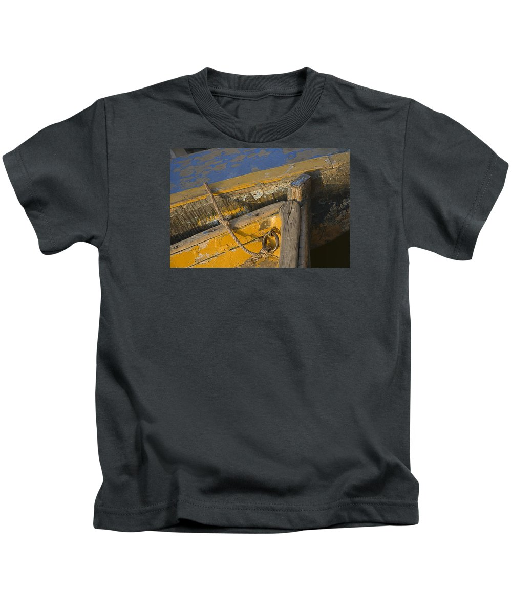 Dilapidated Kids T-Shirt featuring the photograph Skn 1394 Dilapidated Boats by Sunil Kapadia