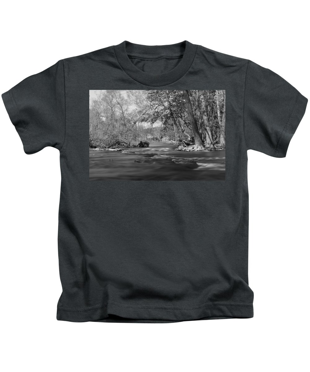America Kids T-Shirt featuring the photograph Slow Down At The River by Jennifer White