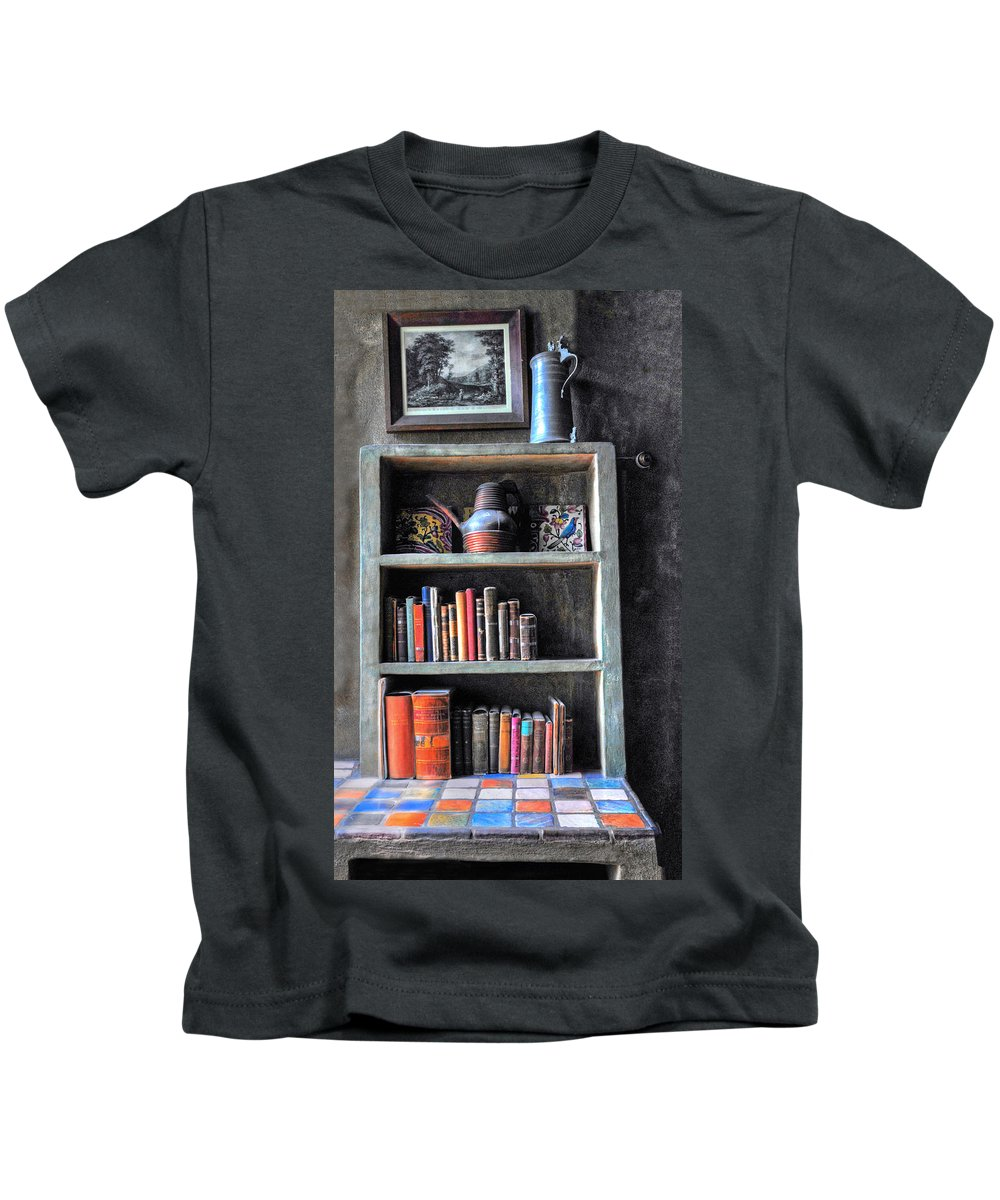 Castle Kids T-Shirt featuring the photograph Small Tiled Desk by Dave Mills