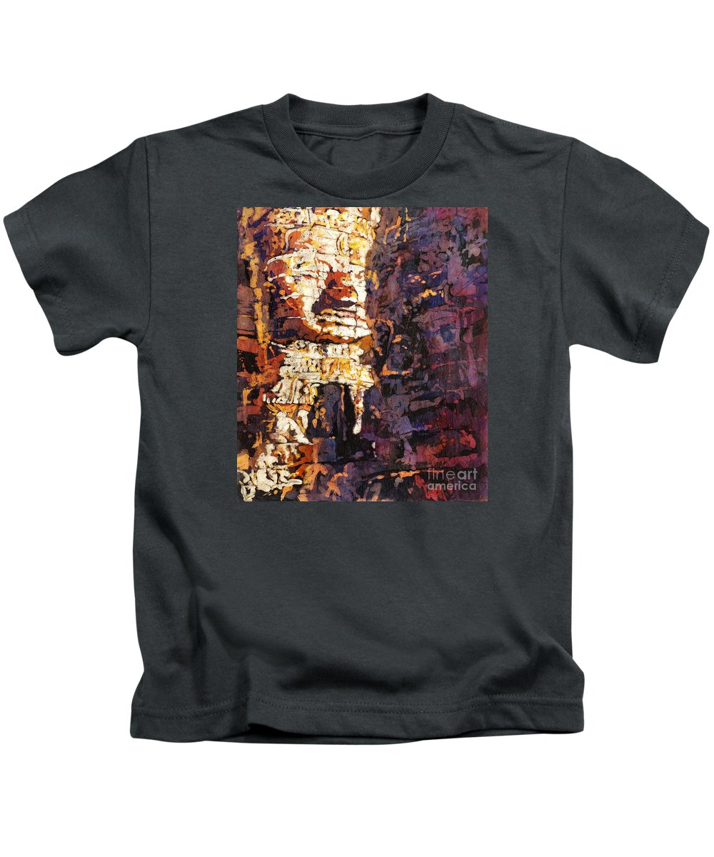 Batik Kids T-Shirt featuring the painting Smile. It's Contagious by Ryan Fox