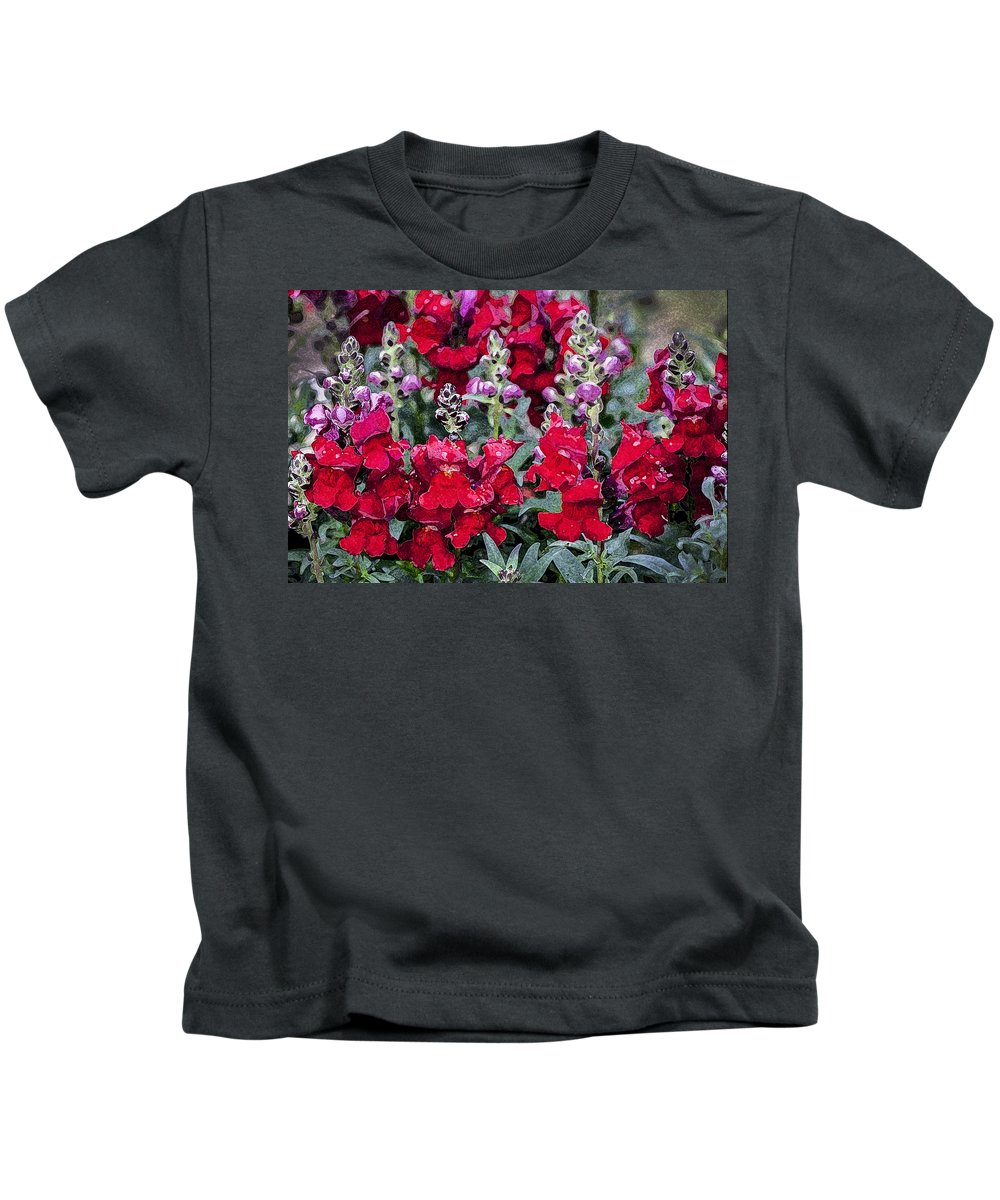 Snapdragons Kids T-Shirt featuring the photograph Snappers by Rich Franco