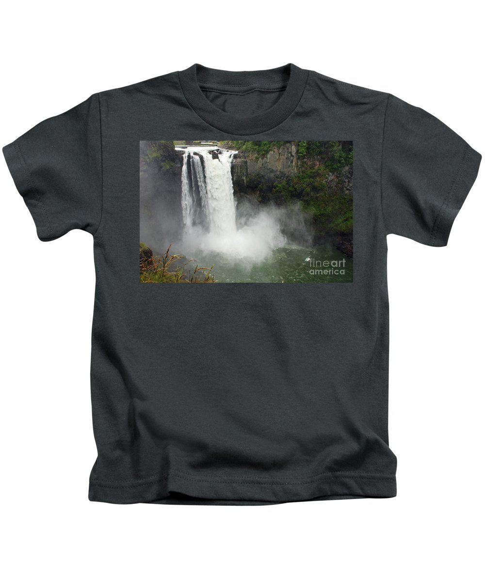 Snoqualmie Falls Kids T-Shirt featuring the photograph Snoqualmie Falls by Carol Groenen
