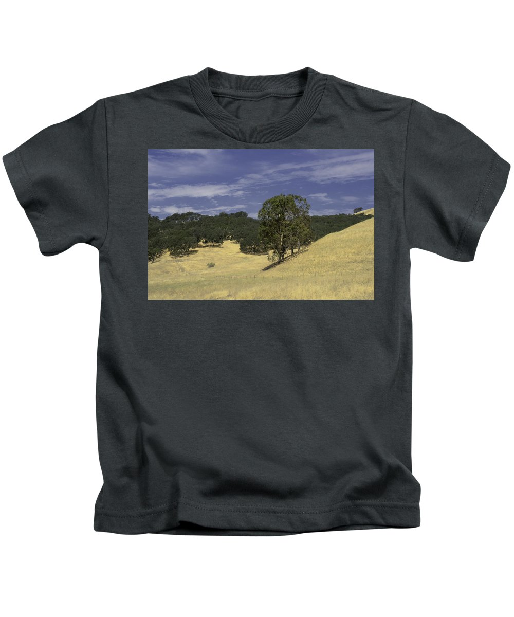 Solano Hills Kids T-Shirt featuring the photograph Open Spaces by Diana Weir