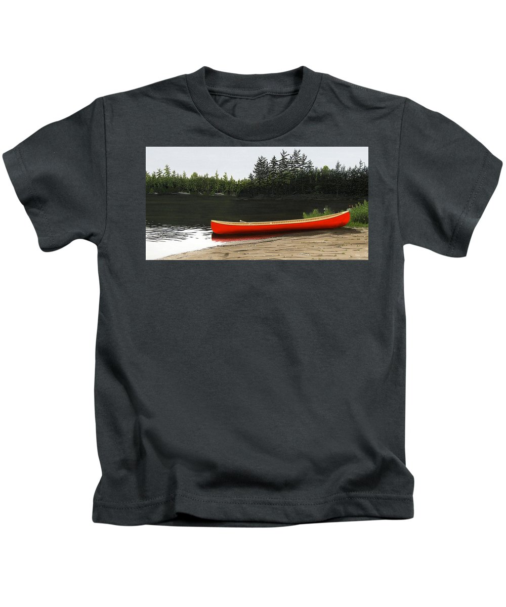 Llandscapes Kids T-Shirt featuring the painting Solemnly by Kenneth M Kirsch
