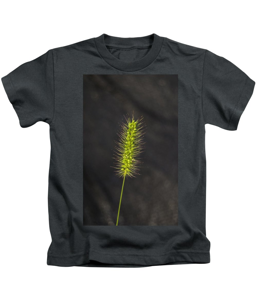 Weed Kids T-Shirt featuring the photograph Solo by Judy Hall-Folde