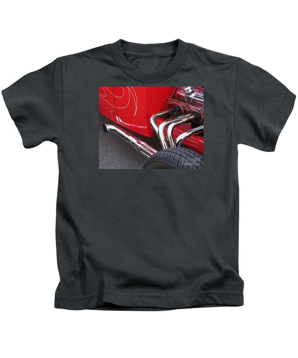 Car Kids T-Shirt featuring the photograph Souped Up by Ann Horn