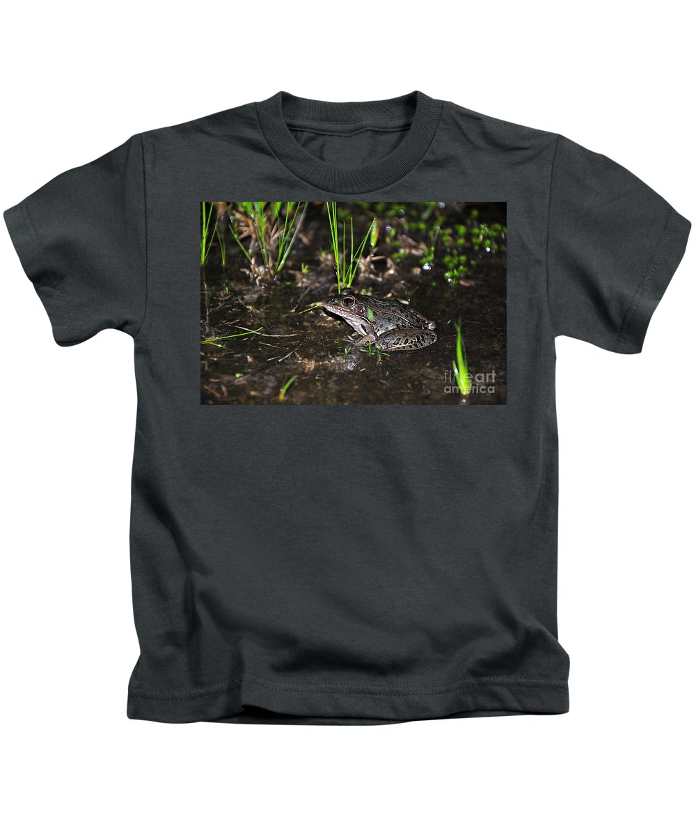 Frog Kids T-Shirt featuring the photograph Southern Leopard Frog by Al Powell Photography USA