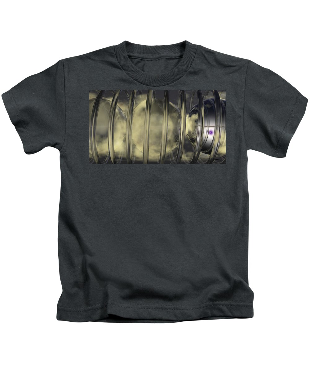 Abstract Kids T-Shirt featuring the digital art Spheres No 7 by James Kramer
