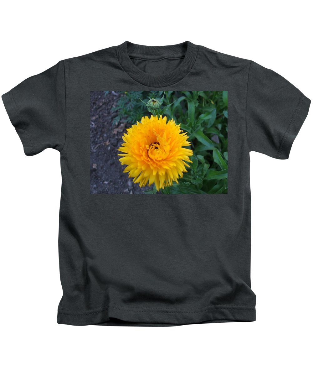 Floral Kids T-Shirt featuring the photograph Spiral by Jo Dawkins