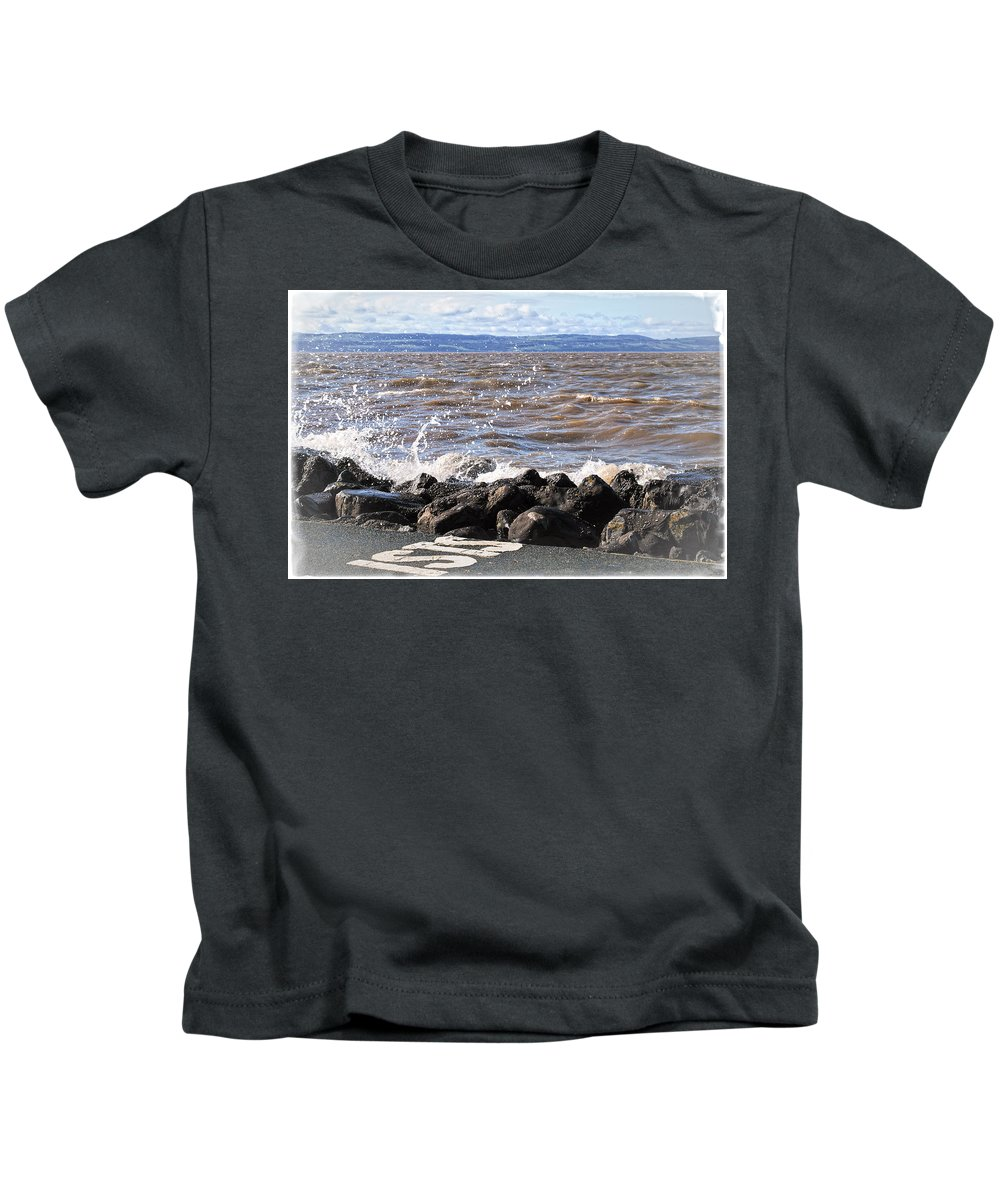 Sea Kids T-Shirt featuring the photograph Splash by Spikey Mouse Photography