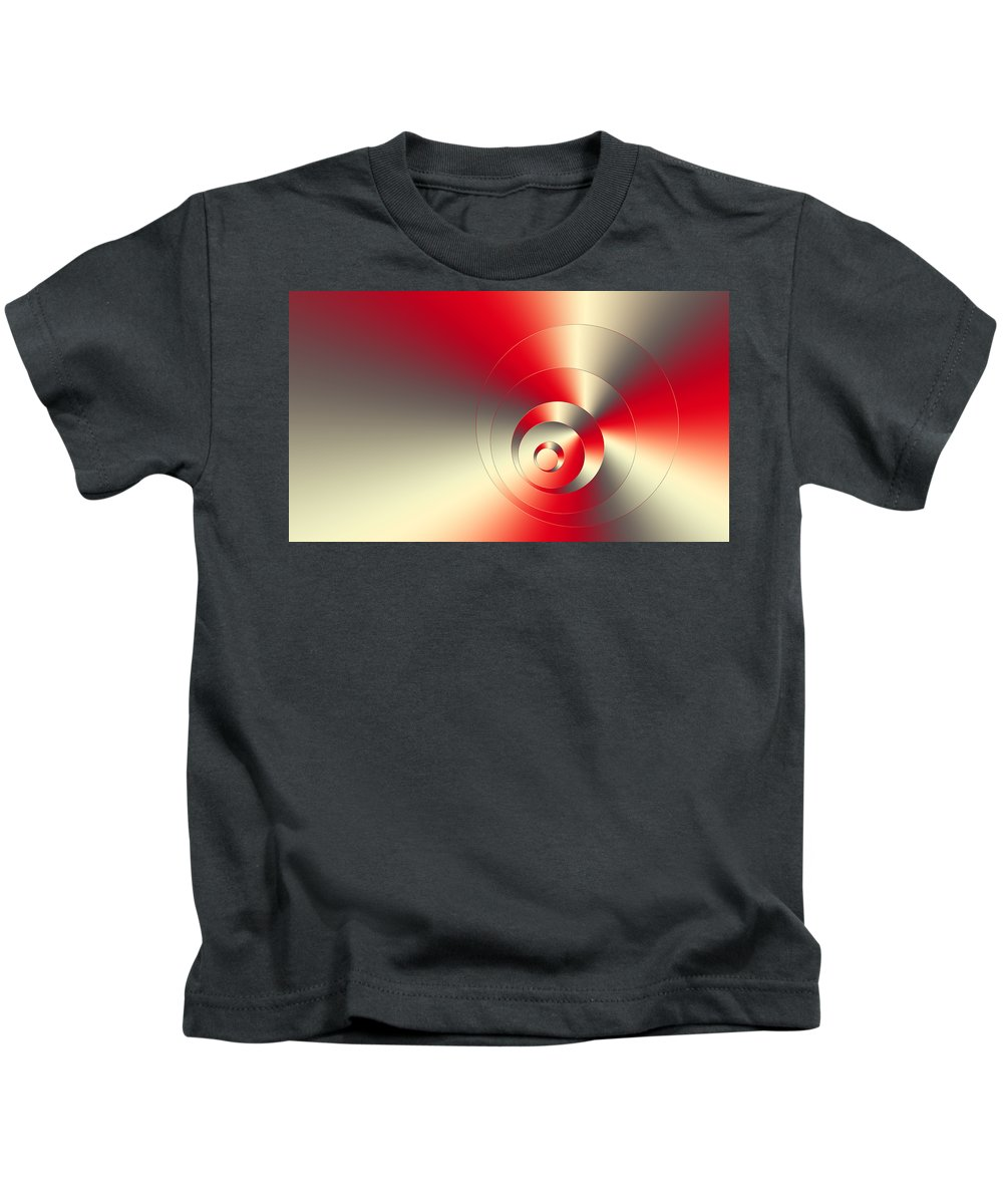 Spontaneous Kids T-Shirt featuring the mixed media Spontaneous 2 by Angelina Vick