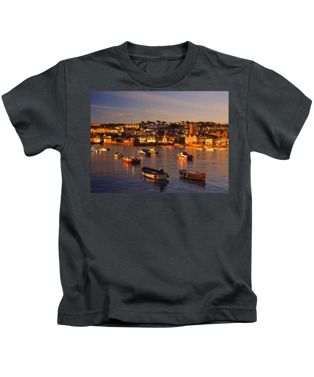 St Ives Kids T-Shirt featuring the photograph St Ives by Darren Galpin