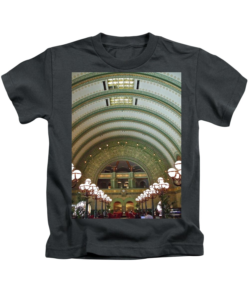 Train Station Kids T-Shirt featuring the photograph Ornate St. Louis Station by Susan Wyman